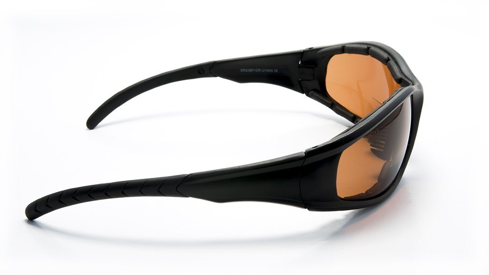 Padded Bifocal Sunglasses for Women and Men Motorcycle Wrap-Around Riding with Magnifier Inserts by FLORIDA GLASSES